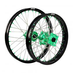 WHEEL SET KAW KX85 sw BLK/GRN