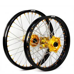 WHEEL SET SUZUKI BLK/GLD/GLD