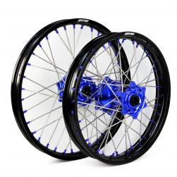 WHEEL SET YAMAHA BLK/BLU/BLU