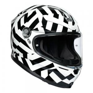 AGV K6 -  SECRET BLK/WHITE