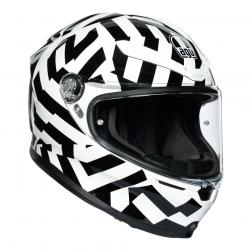 AGV K6 -  SECRET BLK/WHITE (61-62cm) XL