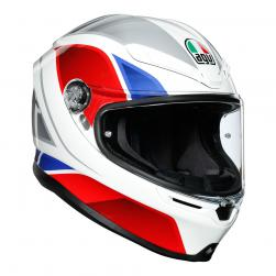 AGV K6 -  HYPHEN WHT/RED/BLUE (57cm) MS