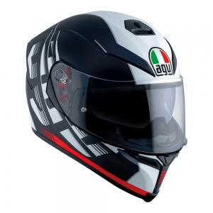 AGV K-5 S - DARKSTORM MATT BLACK/RED