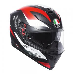 AGV K-5 S - MARBLE MATT BLACK/WHITE/RED