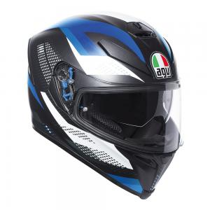 AGV K-5 S - MARBLE MATT BLACK/WHITE/BLUE