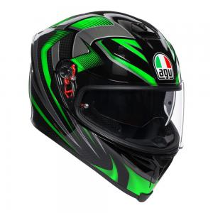 AGV K-5 S - HURRICANE BLACK/GREEN