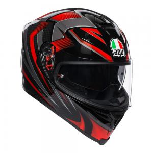 AGV K-5 S - HURRICANE BLACK/RED