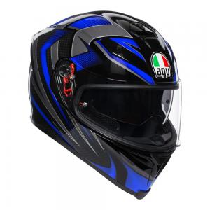 AGV K-5 S - HURRICANE BLACK/BLUE