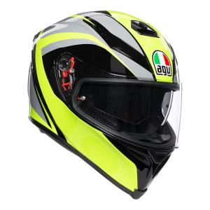AGV K-5 S - TYPHOON BLK/GRY/FLURO-YELLOW