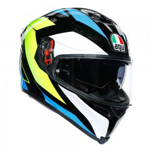 AGV K-5 S - CORE BLK/CYAN/F-YELLOW