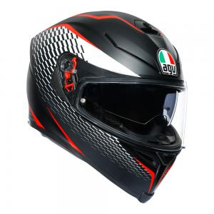 AGV K-5 S - THUNDER BLACK/RED