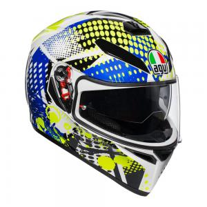 AGV K-3 SV - POP WHITE/BLUE/LIME