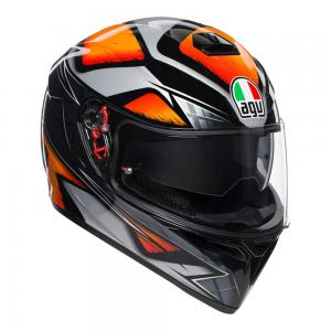 AGV K-3 SV - LIQUEFY BLACK/ORANGE