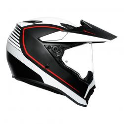 AGV AX-9 PACIFIC ROAD MT-BLK/WH/RD (53-54cm) XS