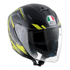 AGV K-5 JET - URB HUN MATT BLACK/YELLOW