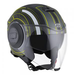 AGV FLUID - CHICAGO MATT BLACK/YELLOW