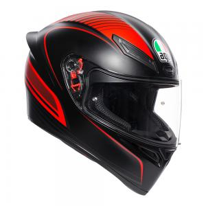 AGV K1 WARM UP BLACK/RED