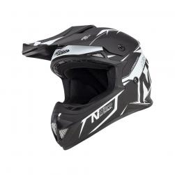 NITRO MX620 PODIUM JNR SATIN BLK/WHT (55-56cm) MD