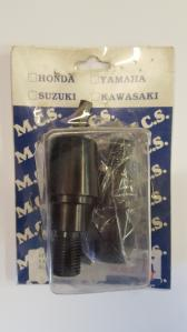 HANDLEBAR ENDS ALLOY YAM SCREW-IN BLK**