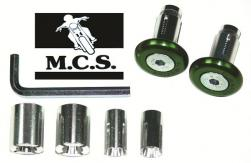 HANDLEBAR ENDS 3 IN 1 30mm GREEN