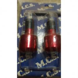 HANDLEBAR ENDS ROAD ALLOY 13mm RED*****