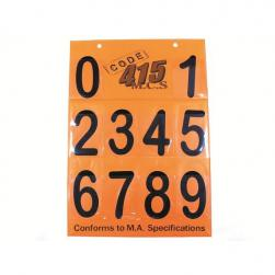 "NUMBER BOARD 6"" MA ARIAL BLACK SET"