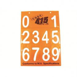 "NUMBER BOARD 6"" MA ARIAL WHITE SET"