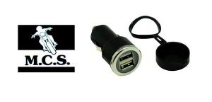 ELECTRICAL PLUG TWIN USB CAPPED