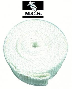 EXHAUST PIPE WRAP 3Mx50mm2.5mm  WH