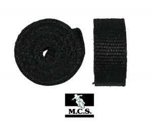 EXHAUST PIPE WRAP 3Mx50mm3mm BLACK