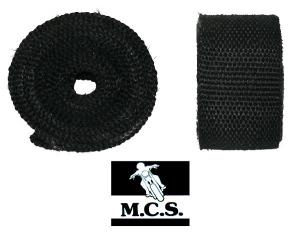 EXHAUST PIPE WRAP 3Mx50mm1.5mm  BLK