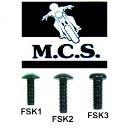 FAIRING SCREW KAW 6mm x 18mm BK A/S