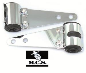 HEADLIGHT BRACKETS UNI CHROME H/D