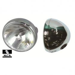 "HEADLIGHT CHROME 7""WITH H4 FITTING"
