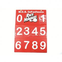 "NUMBER BOARD 4.5"" ARIAL WHITE SET"