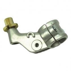 LEVER BRACKET YAM/SUZ R/H 2 PCE ALLOY SIL