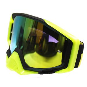 GOGGLE LY100-64 BLK/FLURO CHROME LENS
