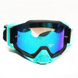 GOGGLE LY100-64 BLK/TEAL CHROME LENS