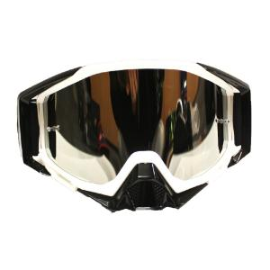 GOGGLE LY100-64 WHT/BLK CHROME LENS