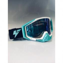 GOGGLE LY100-64 WHT/TEAL  BLUE LENS