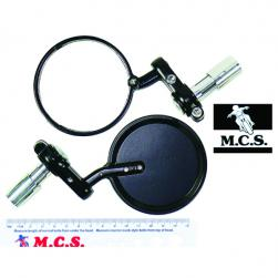 MIRROR FOLDING BAR END BLACK (PAIR)