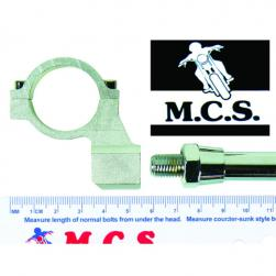 MIRROR MOUNT BKT MOTARD 28.5mm SIL