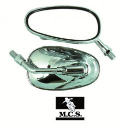 MIRROR UNI OVAL CHROME 10mm SMALL