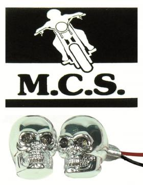 NUMBER PLATE SKULL BOLTS L.E.D.(PR)