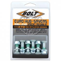 SPROCKET BOLT KIT DOUBLED LOCK SILV