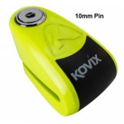 LOCK DISC KOVIX ALARM 10MM FLURO GREEN