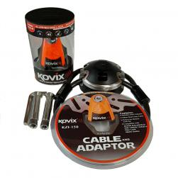 LOCK GROUND ANCHOR/CABLE/DISC LOCK COMBO