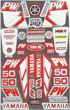 STICKER KIT LARGE PW50 RED