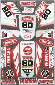 STICKER KIT LARGE PW80 RED