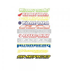 STICKER RACING DUCATI RED 60-007-03
